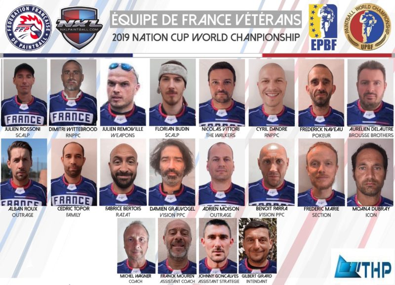 Equipe de France de Paintball - Veteran 2019