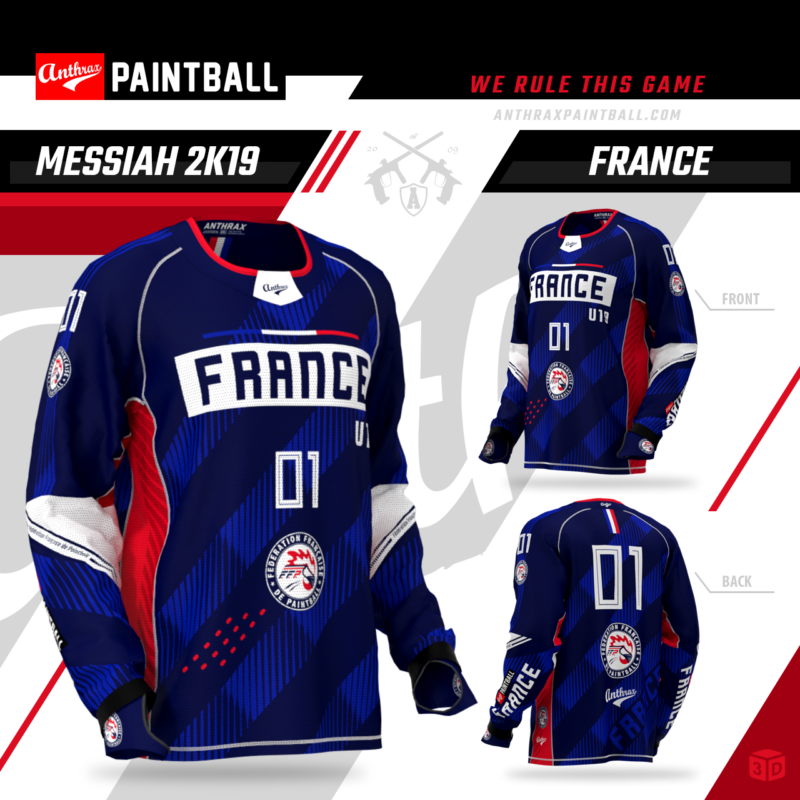 Jersey Equie de France de Paintball 2019 - Anthrax